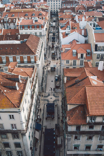 Lisbon Lisboa Portugal Building Exterior Built Structure Architecture Residential District City Building Roof High Angle View Crowd Crowded Town Street House Day Outdoors City Life Community Full Frame Window Roof Tile TOWNSCAPE Apartment Location Place