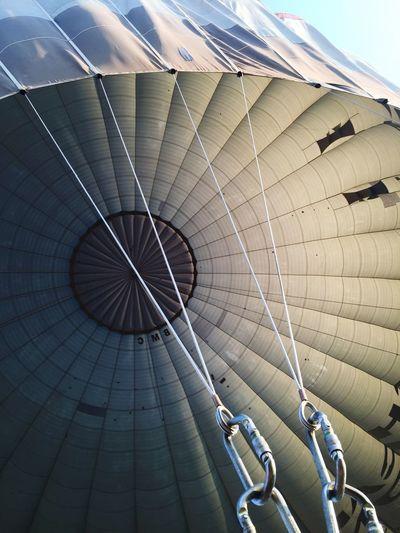 Close-up detail of hot air balloon