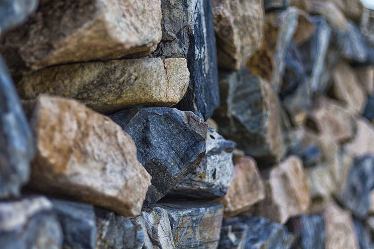 Boundary wall of stones. Boundary Sambhar Lake Wall Abundance Backgrounds Close-up Day Focus On Foreground Full Frame Landscape Large Group Of Objects Nature No People Outdoors Pattern Rock Rock - Object Rough Shape Solid Stack Still Life Stone - Object Textured
