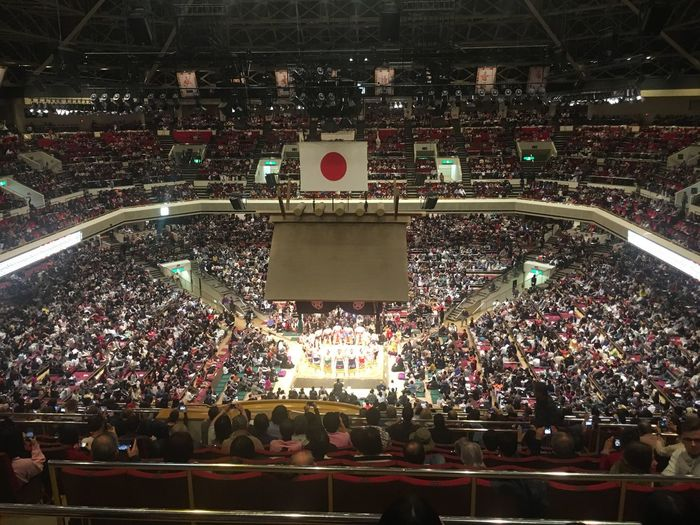 Ryogoku kokugikan Ryogoku Kokugikan Tokyo Japan Sumo Large Group Of People Crowd Stadium Audience Men Real People Togetherness Illuminated Leisure Activity Stage Light Outdoors Television Show Lifestyles Ice Rink Fan - Enthusiast People Adult Women Night Match - Sport