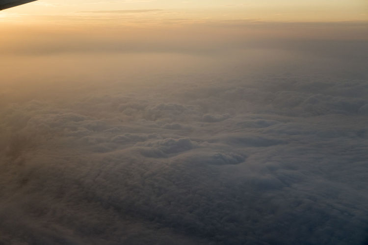 High angle view of cloudscape during sunset