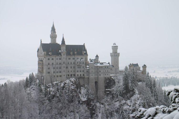 Neuschwanstein Castle Schloss. Winter Snow Architecture Built Structure Building Exterior Place Of Worship Nature Snowing Neuschwanstein Neuschwanstein Castle Neuschwanstein Schloss