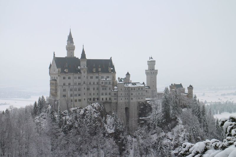 Neuschwanstein Castle Schloss. Winter Snow Architecture Built Structure Building Exterior Place Of Worship Nature Snowing Neuschwanstein Neuschwanstein Castle Neuschwanstein Schloss