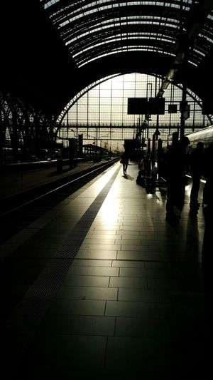 Silhouette Architecture Platform On My Way Home On My Way Evening Light Evening Sun Train Station Train Architecture One Person Silhouette Walking