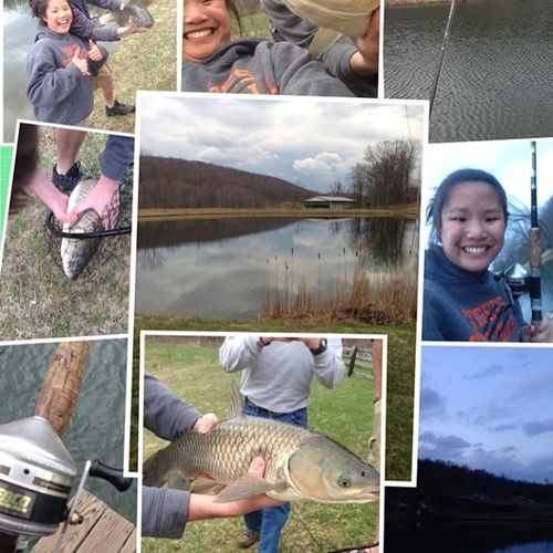 Just a nice day and night fishing with some friends and new friends???☀️???? Fishing Beer Friends Caughtthebiggestfish carp sunnyfish fish pond bonefire