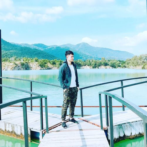 EyeEm Selects One Person Nature Front View Outdoors Day Sky Young Adult Standing Lake River Love ♥ Journey Forever First Eyeem Photo