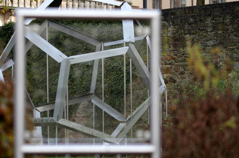 Anamorphose  Day Greenhouse Herbststimmung Installation Art Installation Work Lemgo Leonardo Da Vinci Nature No People Optische Täuschung Outdoors Schloss Brake Tree Weserrenaissance Museum
