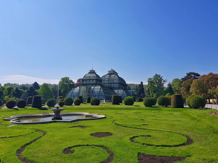 View of formal garden