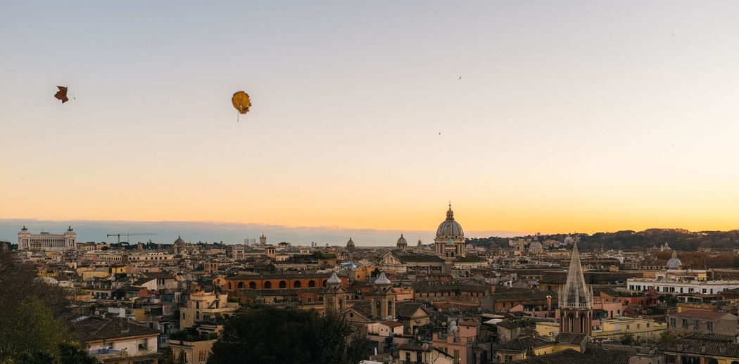 Rome Cityscape Against Sky During Sunset