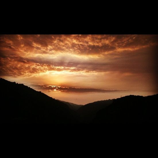 God Is An Artist Sunset View Fiery Sunset... Colors