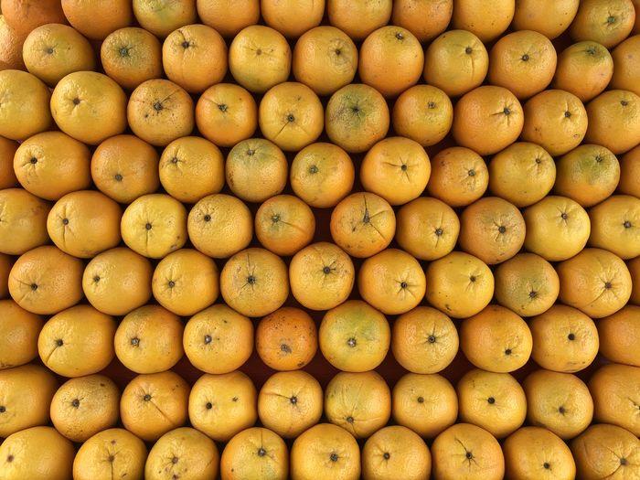 Full frame shot of oranges at market