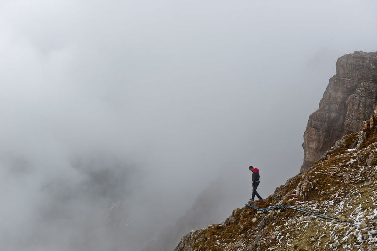 Adventure Afventure Beautiful Beauty In Nature Challenge Climbing Clouds Cloudy Cortina D'Ampezzo Danger Dolomites, Italy Dolomiti Dramatic Sky Extreme Terrain Fog Forrest Green Hi Hiking Hiking Italy Landscape Mountain Mountains My Year My View Miles Away The Great Outdoors - 2017 EyeEm Awards