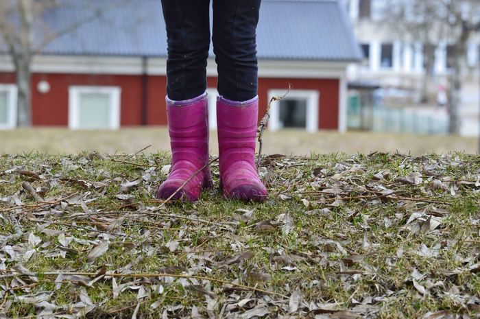 City Life Urban Lifestyle Leaves Soil City Park Pink Color Wear Selective Focus Outdoors Girl Low Section Child Human Leg Standing Childhood Limb Close-up Grass Leg Residential Structure Building Settlement Residential District Building Exterior Human Settlement TOWNSCAPE #FREIHEITBERLIN