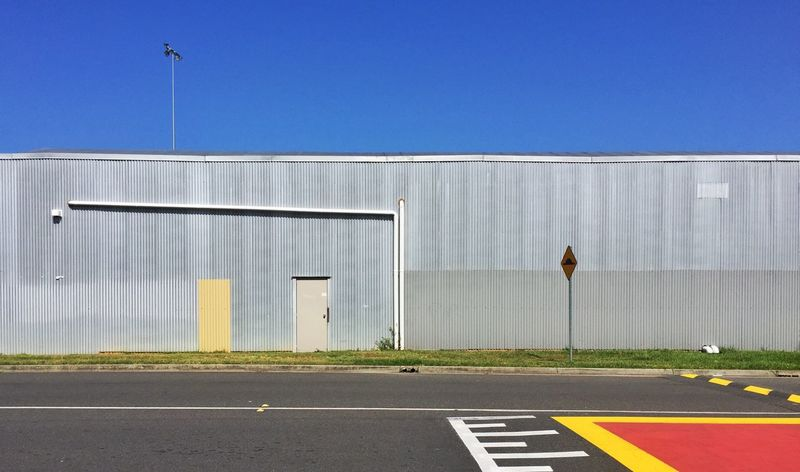 Architecture Clear Sky Day Minimalist Architecture No People Outdoors Road Road Marking Sky The Architect - 2017 EyeEm Awards Transportation Urban Color Yellow