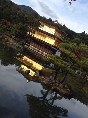 鹿苑寺(金閣寺)Kinkaku-ji Temple Schooltrip Taking Photos