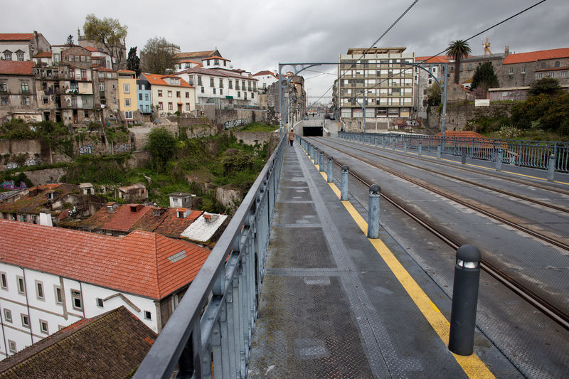 Old City of Porto cityscape in Portugal, view from the Dom Luis I Bridge Oporto Porto Portugal Architecture Building Exterior Built Structure City Cityscape Europe Infrastructure No People Old Town Urban