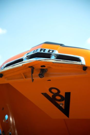 Orange Color Mode Of Transportation No People Car Sky Transportation Day Clear Sky Retro Styled