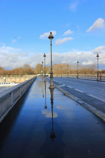 Pont Bridge Pont De Tolbiac Tolbiac Paris, France  Paris ❤ Paris Paris 13 Miroir Pluie Reflet Sky Road Water Cloud - Sky Outdoors BNF Paris BnF / National Library Of France Investing In Quality Of Life Your Ticket To Europe The Week On EyeEm EyeEmNewHere