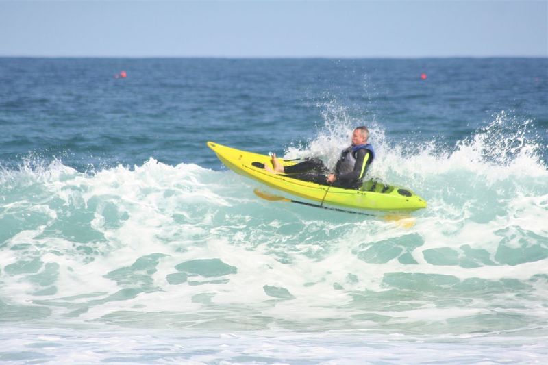 South Africa Adult Adventure Extreme Sports Healthy Lifestyle Kayak Leisure Activity Men Motion Nature Nautical Vessel One Man Only One Person Outdoors Sea Sport Vacations Water Wave