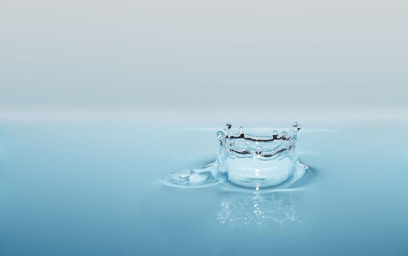 Close-up of water droplet splashing