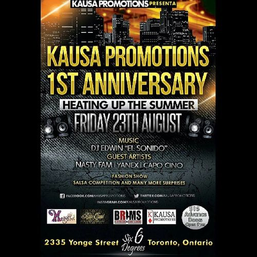 Poppin bottles August 23ed at SixDegreesNightClub for @kausapromotions 1 year anniversary !!!! Everyone gotta reach it !! KausaPromotions 1year Anniversary August23 Toronto Duro