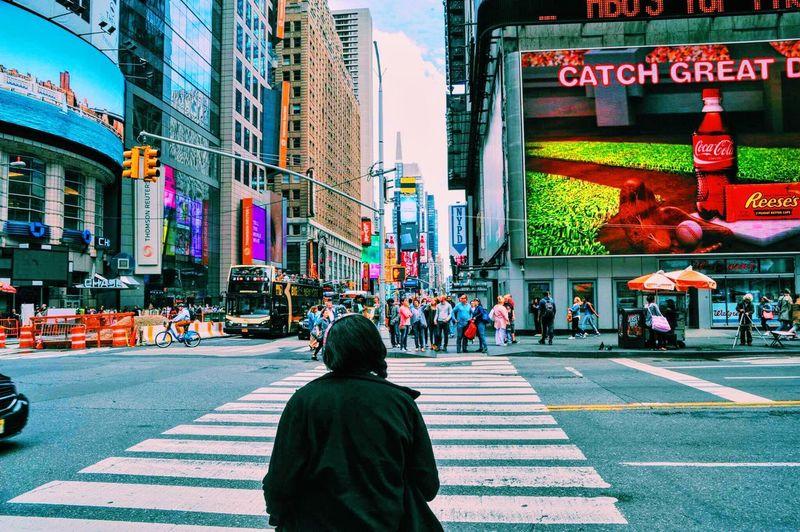 Hello World TimesSquare New York City Feel The Journey