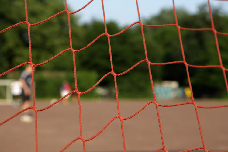 1611, Hamburg, Sportplatz Thomasstrasse Close-up Day Focus On Foreground Nature Net - Sports Equipment Netting No People Outdoors Red Soccer Soccer Field Soccer Goal Sport Sports Sports Photography Sportsphotography