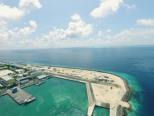 Maldives Phantom3photography ArealPhotography Sea And Sky Built Structure Malecity Dji