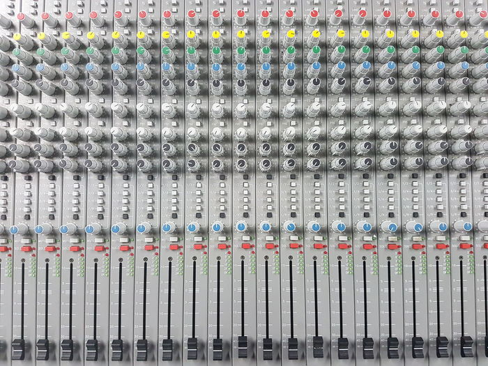 Pattern Full Frame Backgrounds Large Group Of Objects Repetition Sound Close-up Volume Studio Radio Objects Music Mixing Mixer Electronics  Colorful Classic Board Audio Adjust Headphones Technology Sound Mixer