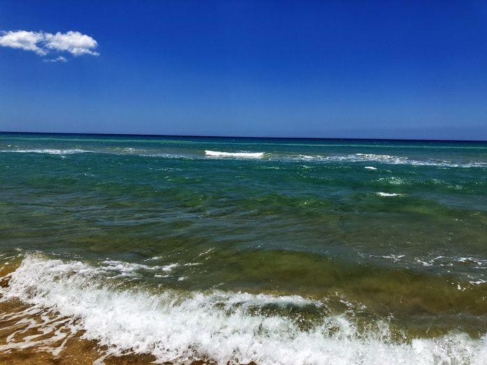Water Sea Sky Beauty In Nature Horizon Over Water Land Horizon Tranquil Scene Beach