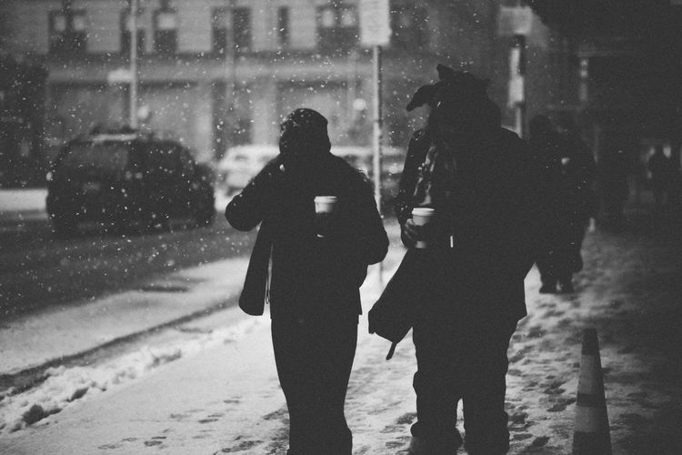 Anonymous Black And White Boston Boylston Contrast Dark Incidental People Silhouette Snow Winter Showcase: February The Street Photographer - 2016 EyeEm Awards