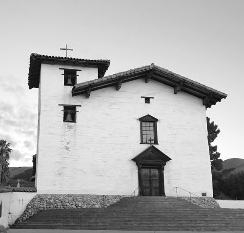 Mission San Jose church Building Exterior Architecture Built Structure Day Clear Sky Outdoors House Low Angle View No People Sky Bell Tower