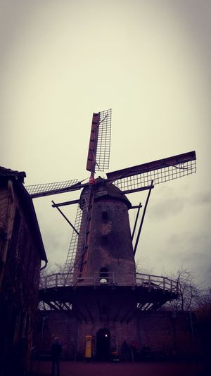 Windmill Wind Turbine Wind Power Traditional Windmill Technology Manufacturing Equipment Factory Industry Alternative Energy Fuel And Power Generation