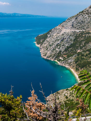 Brela, Croatia Croatia Mediterranean  Nature Nature Photography Tranquility Travel Travel Photography Traveling View Beauty In Nature Blue Sky Brela  Cliff Day Hrvatska No People Outdoors Photography Scenery Scenics Sea Sky Tranquil Scene Travel Destinations Water