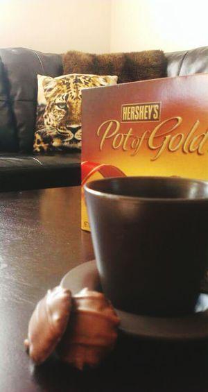 Coffeeaddict Chocolate Coffee Coffee Time Chocolate♡ Coffee At Home Chocolate Time Coffeetime Indoors  Hersheys ♥ Hershey's Chocolate