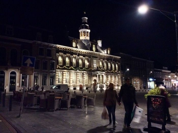 Roermond Netherlands Limburg Netherlands ❤ Netherland I❤️ Roermond Learn & Shoot: After Dark Roermond Market Place At Night Illuminated Building People Built Structure Architecture Building Exterior Real People City Travel Night