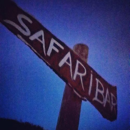 Are you ready for the safari bar? Safaribar Sign Wood Kroatien Crotia Holiday Loveyah Bar Evening