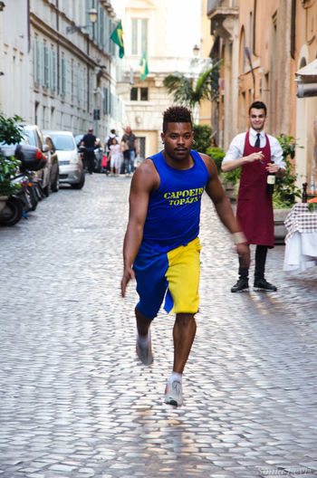 Capoeira in Rome Focus On Foreground Rome Italy Italian Athlete Streetphotography Street Art Jumping Brasilian Dancing In The Street Citylife Citycentre