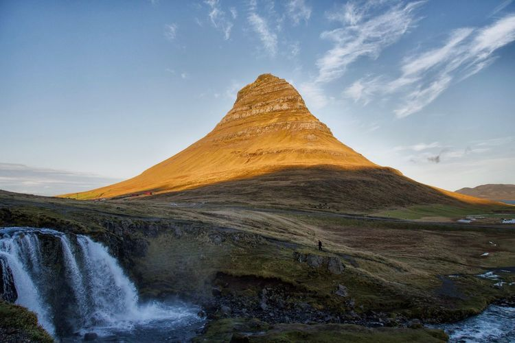 Kirkjufell Scenics Tranquil Scene Tranquility Landscape Beauty In Nature Nature Mountain Sky Cloud - Sky Day Travel Destinations Waterfall No People Outdoors Water Grass