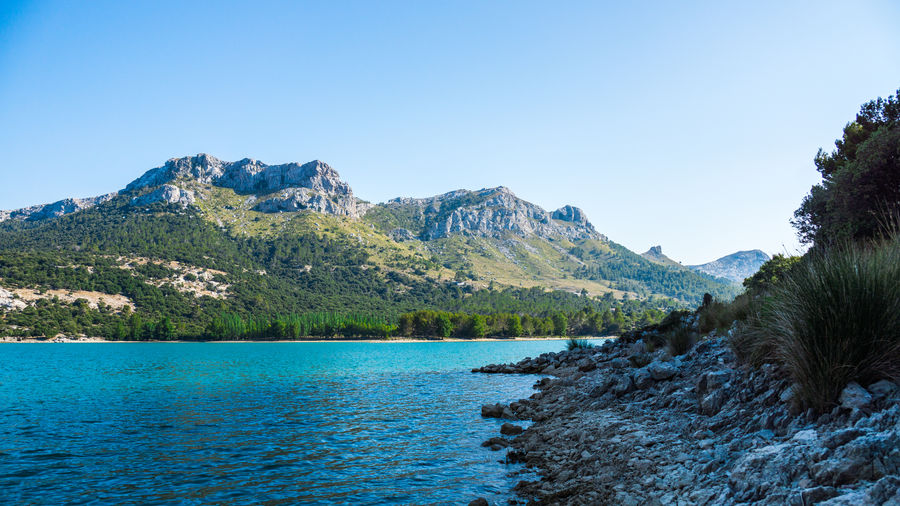 Beauty In Nature Blue Clear Sky Day EyeEm Best Shots EyeEm Nature Lover Gorg Blau Idyllic Landscape Landscape_Collection Mallorca Mountain Mountain Range Nature No People Non Urban Scene Non-urban Scene Outdoors Rock Formation Scenics Sky Tranquil Scene Tranquility Tree Water
