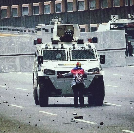 Brave woman in Venezuela. 4/19/17 Outdoors City Resist! Crowd Freedom Standing Revolution Military Freedom Of Expression