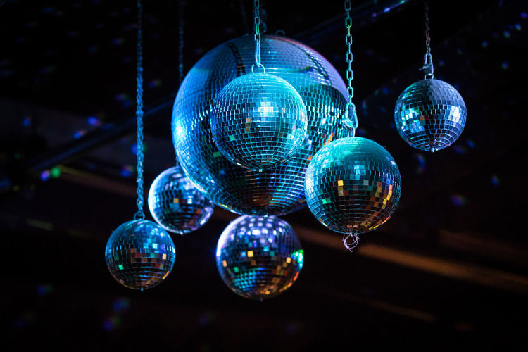 Dancing Having Fun Mirror Music My Fuckin Berlin Celebration Close-up Concert Disco Ball Disco Dancing Hanging Illuminated Indoors  Lighting Equipment Multi Colored Night Nightclub Nightlife No People Party Pieces Reflection Retro Styled Shiny
