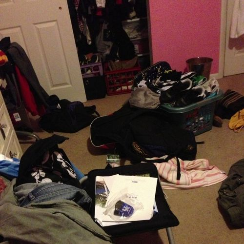My room... My life is a jumbled mess.