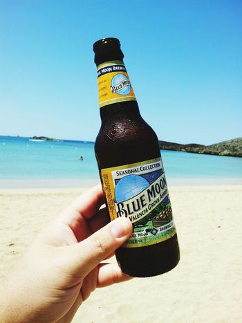 Beers Blue Moon Relaxing Beach Day