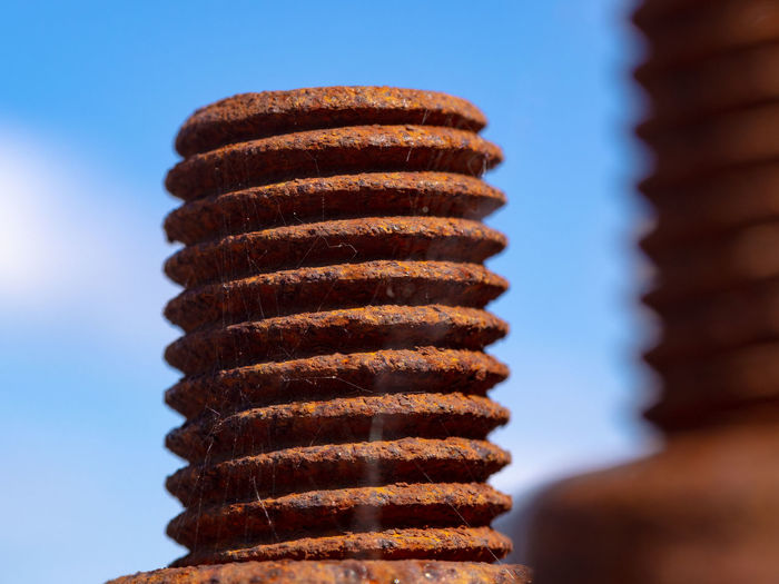 Rusty Metal Rusty Day Focus On Foreground No People Balance In A Row Spiral Brown Metal Still Life Close-up Pattern Bolt Bolts And Screws
