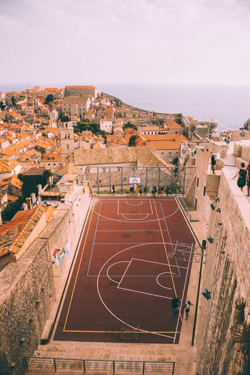 views. High Angle View Architecture Built Structure Day Outdoors Building Exterior No People Sky Basketball Croatia Dubrovnik