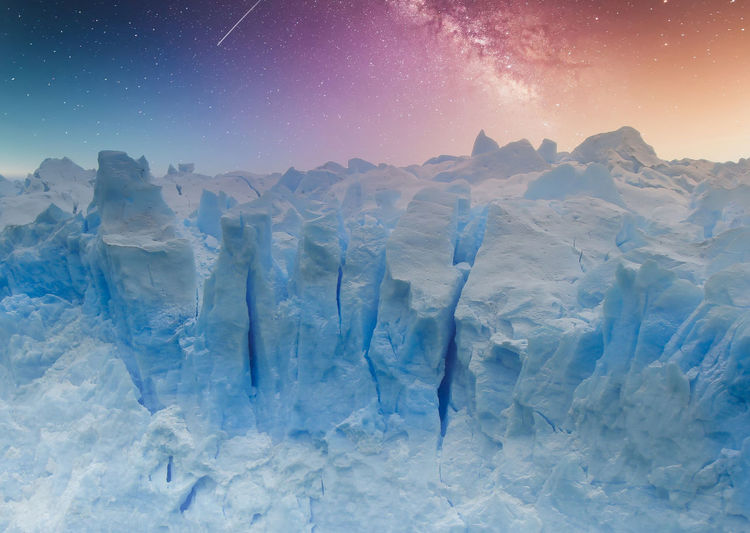 Glacier against sky