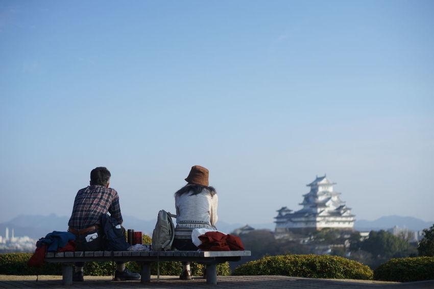 Blue Day Himeji Castle Japan Japan Photography Japanese Culture Landscape Relaxation Sitting Sky