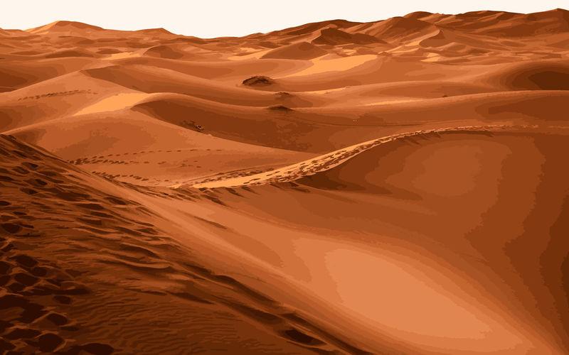 Hot dune vector