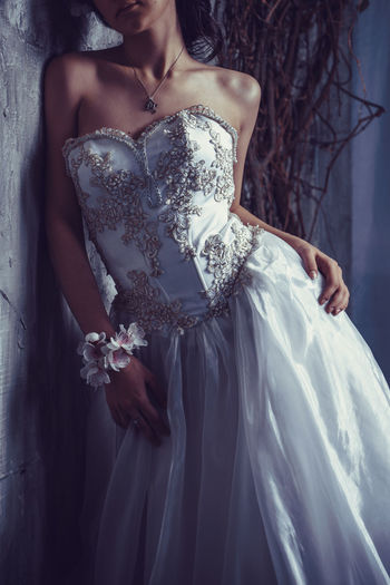 Adult Beautiful Woman Bride Close-up Day Dress Evening Gown Fashion Formalwear Life Events One Person Outdoors People Real People Standing Studio Shot Wedding Wedding Dress Women Young Adult Young Women